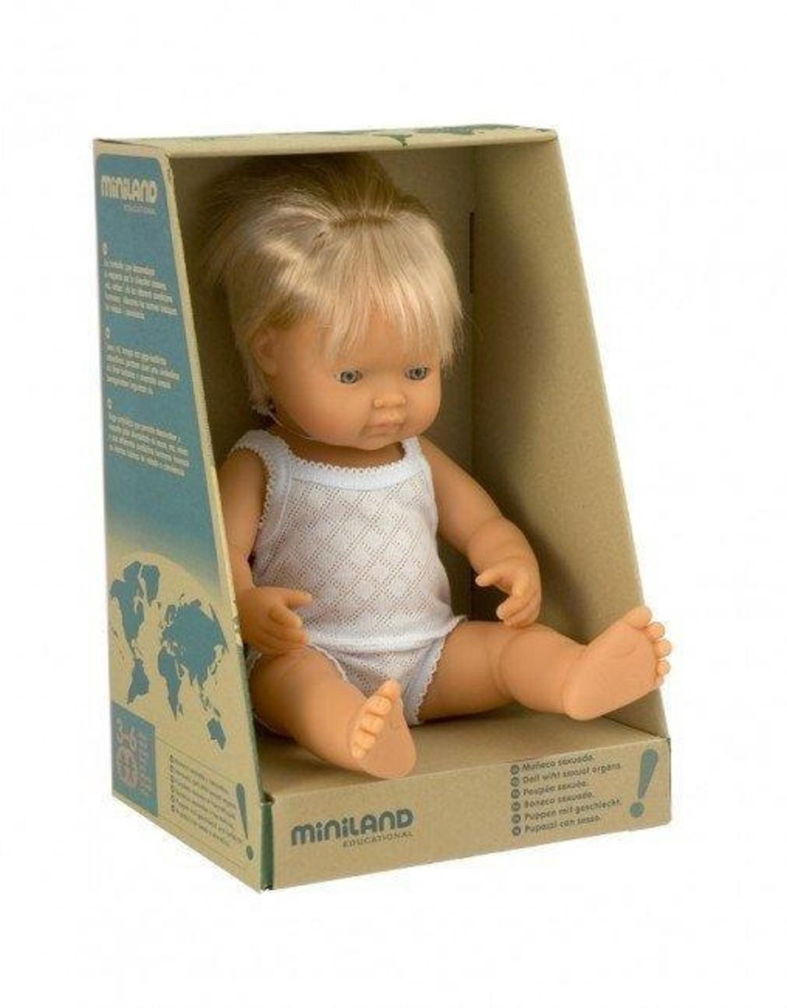 Miniland Miniland Baby Doll 38cm - Caucasian Boy