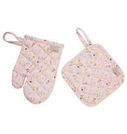 Cam Cam Cam Cam - Kids Oven Glove & Pot Holder Set Fleur