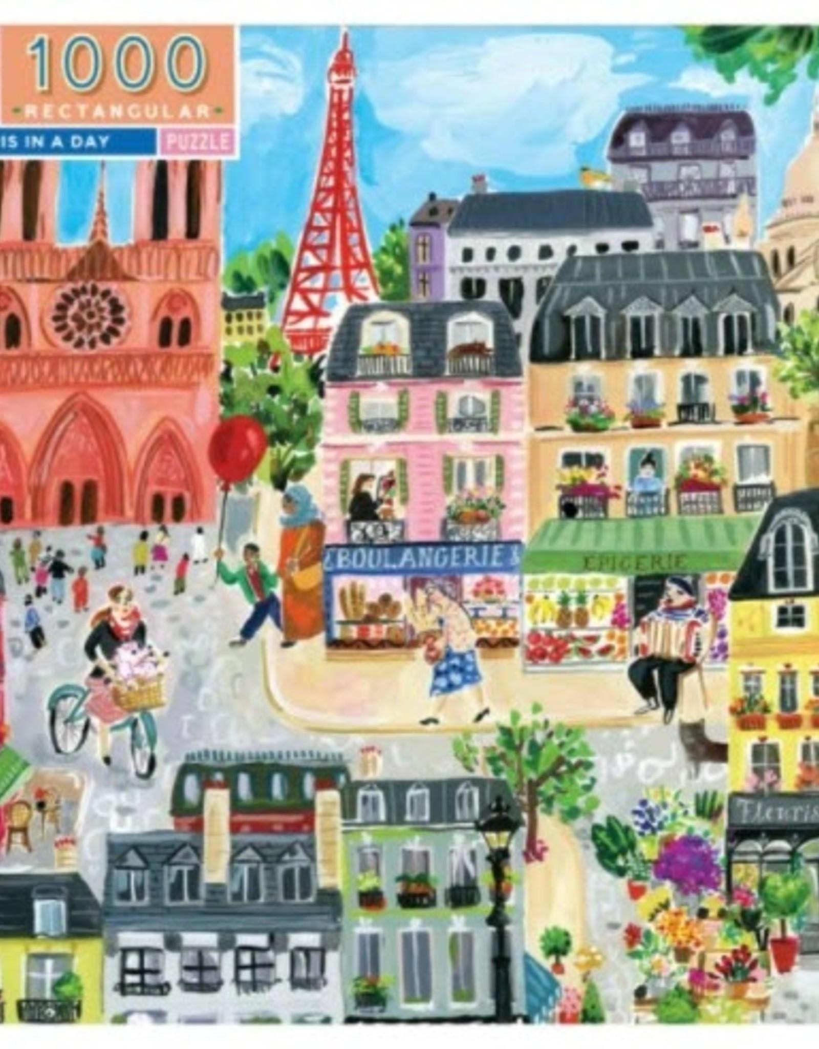 Eeboo Eeboo - Paris In A Day Puzzle 1000 Pce