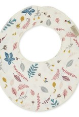 Cam Cam Cam Cam - Teething Muslin Bib Pressed Leaves Rose