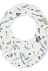 Cam Cam Cam Cam - Teething Muslin Bib Pressed Leaves Blue