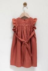 Pretty Wild Pretty Wild - Tia Dress Coral  Linen Size 18 months