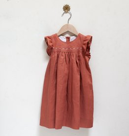 Pretty Wild Pretty Wild - Tia Dress Coral Linen Size 2