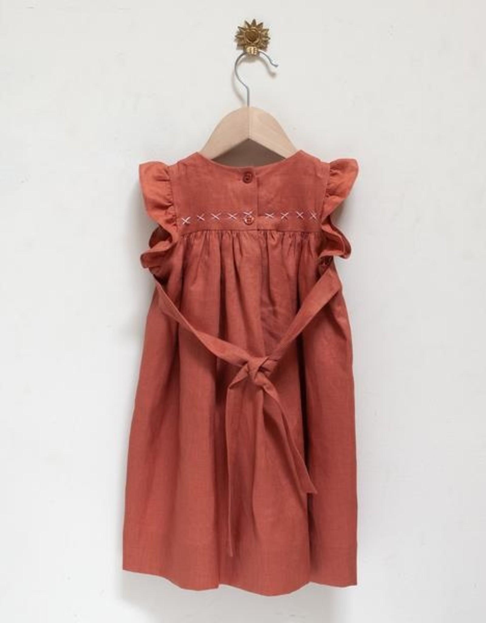 Pretty Wild Pretty Wild - Tia Dress Coral Linen Size 2