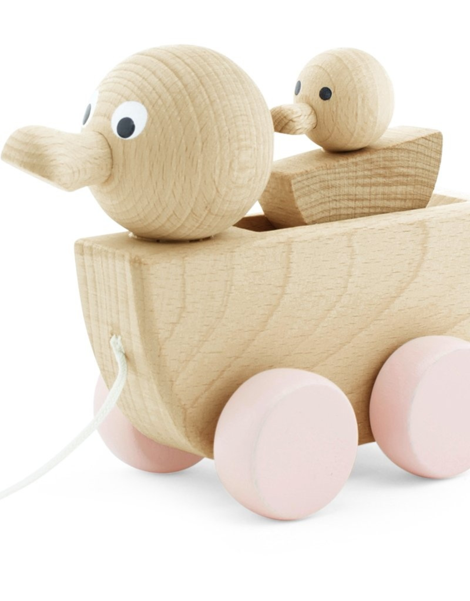 Happy Go Ducky Wooden Pull Along Duck and Baby - Georgia