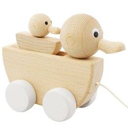 Happy Go Ducky Wooden Pull Along Duck and Baby - Gretel