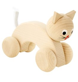 Happy Go Ducky Wooden Push Along Cat