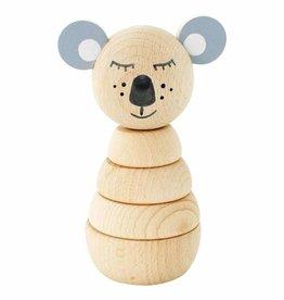 Happy Go Ducky Wooden Koala Stacking Puzzle - Sydney