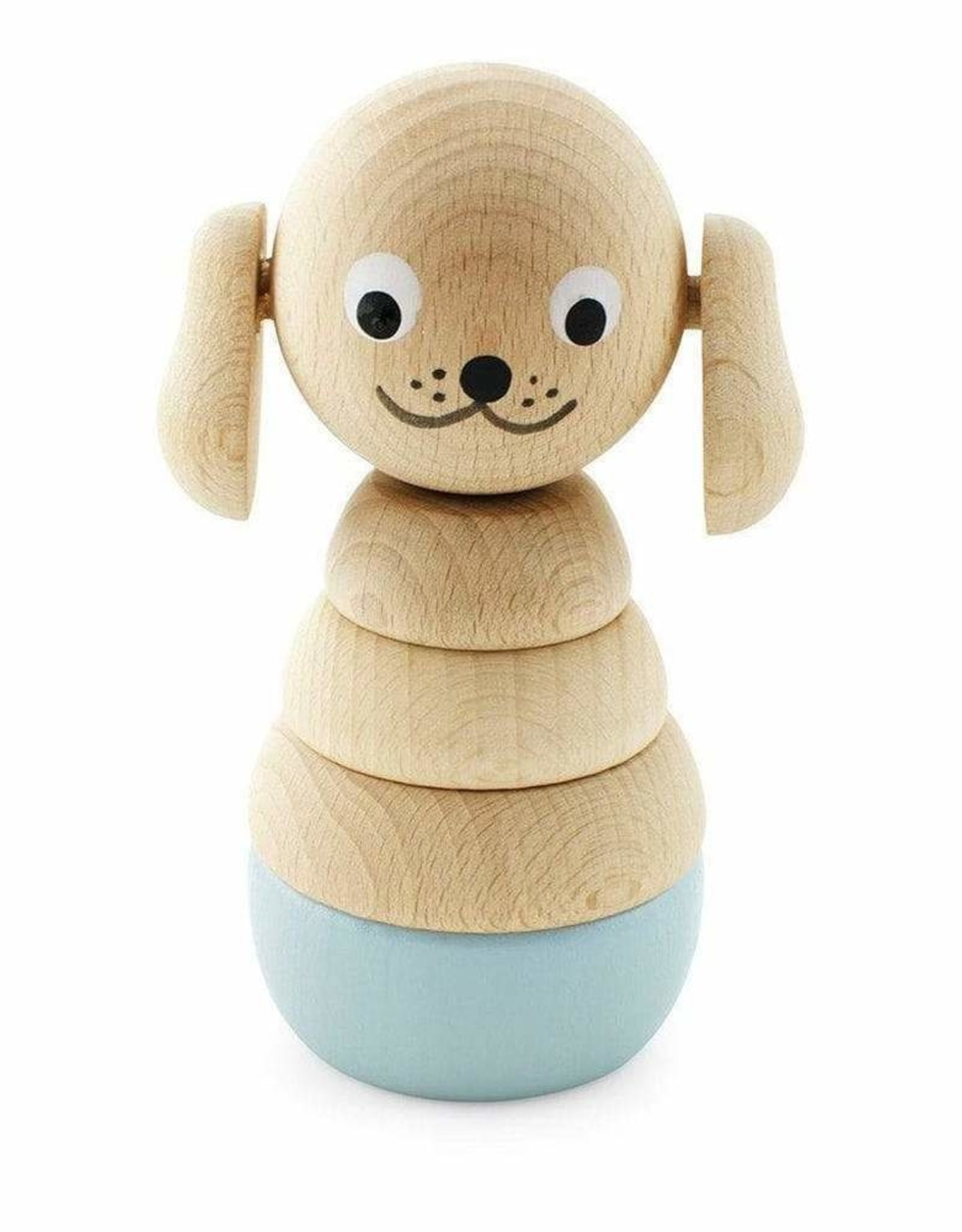 Happy Go Ducky Wooden Dog Stacking Puzzle - Bella