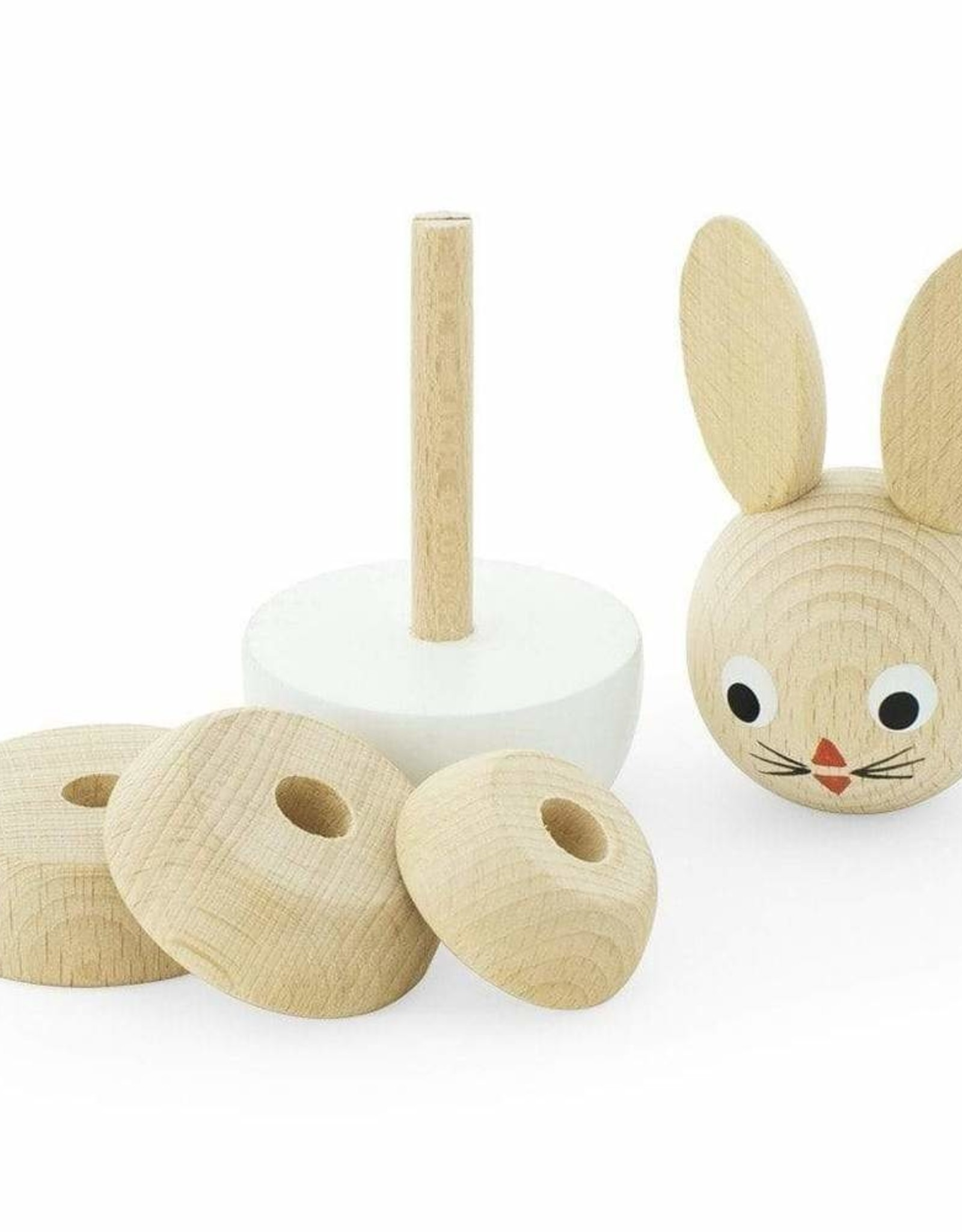 Happy Go Ducky Wooden Rabbit Stacking Puzzle - Bonnie