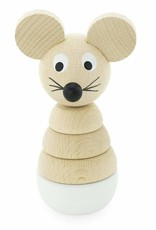 Happy Go Ducky Wooden Mouse Stacking Puzzle - Hobbs