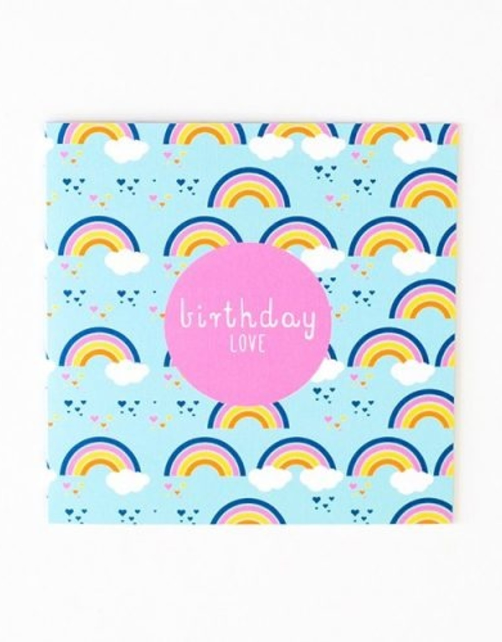 Two Little Ducklings Large Birthday Card - Birthday Love - Rainbow