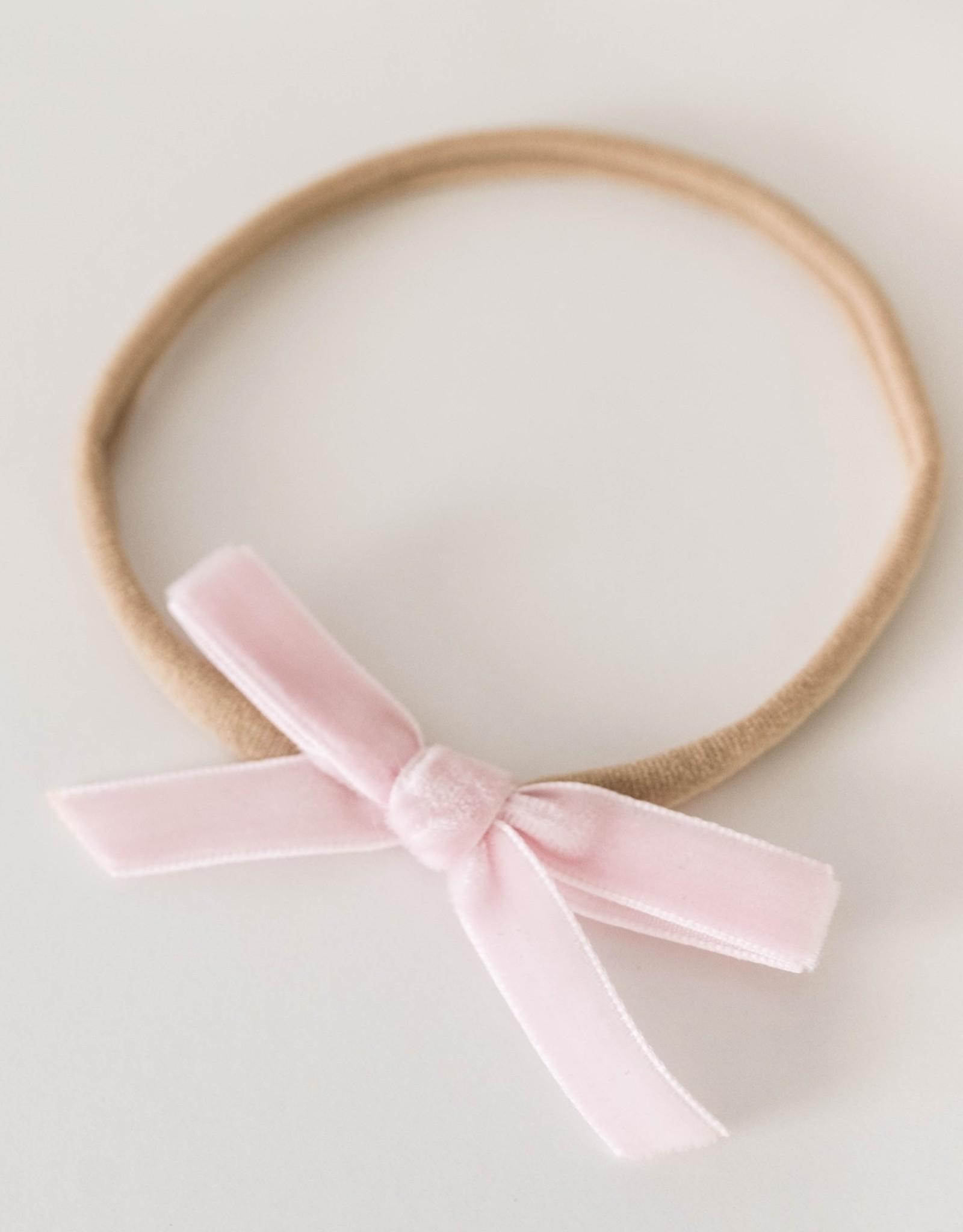 Snuggle Hunny Snuggle Hunny - Rose Pink Velvet Bow