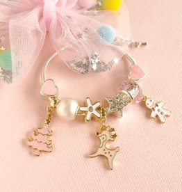 Lauren Hinkley Lauren Hinkley - Pink Christmas Charm Bracelet