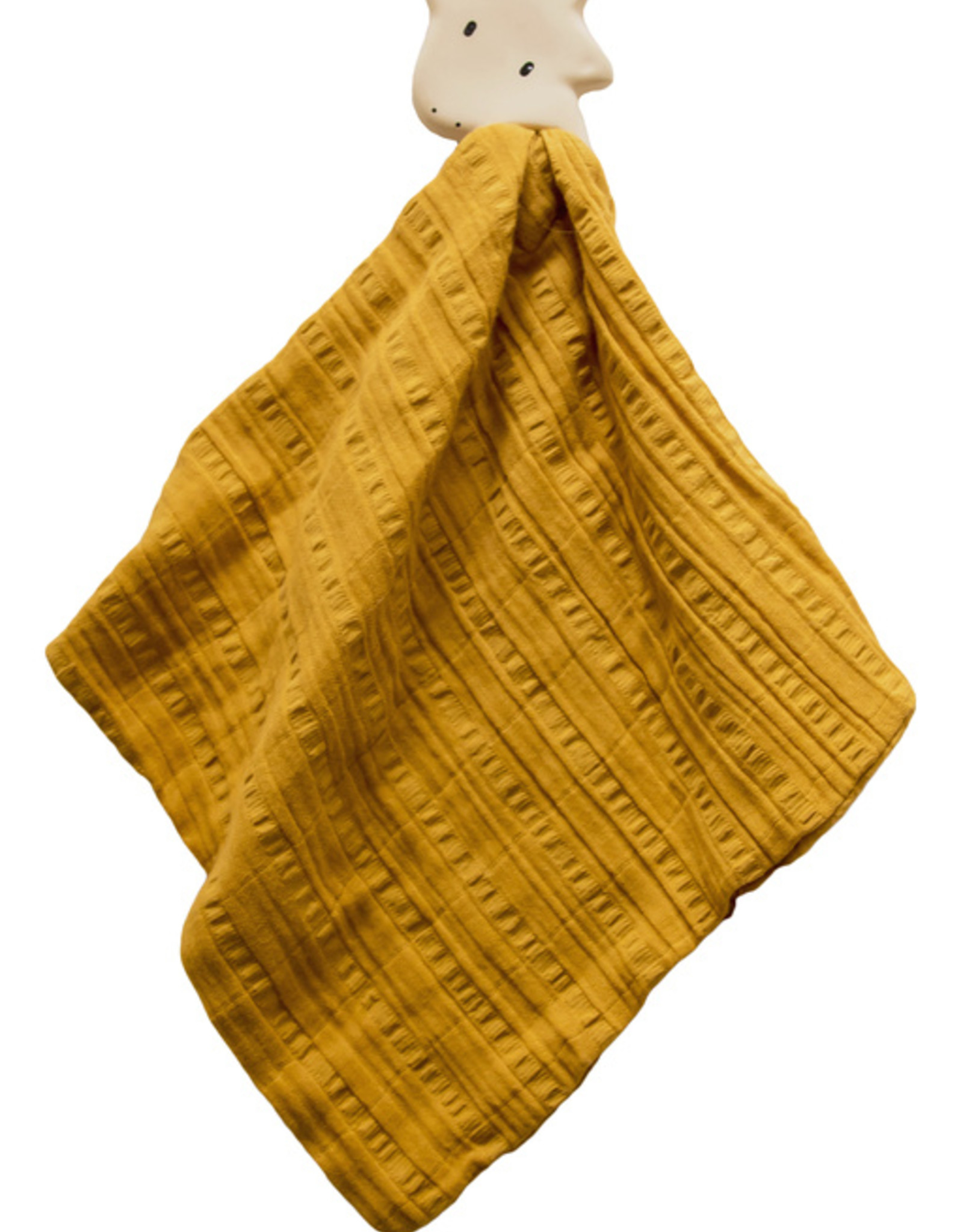 Tikiri Tikiri - Teether Giraffe With Mustard Muslin Comforter