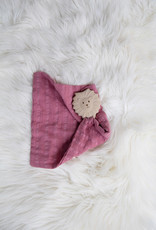 Tikiri Tikiri - Teether Lion With Dusty Pink Muslin Comforter