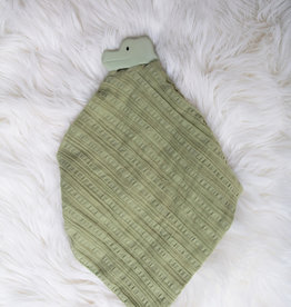 Tikiri Tikiri - Teether Crocodile With Olive Green Muslin Comforter