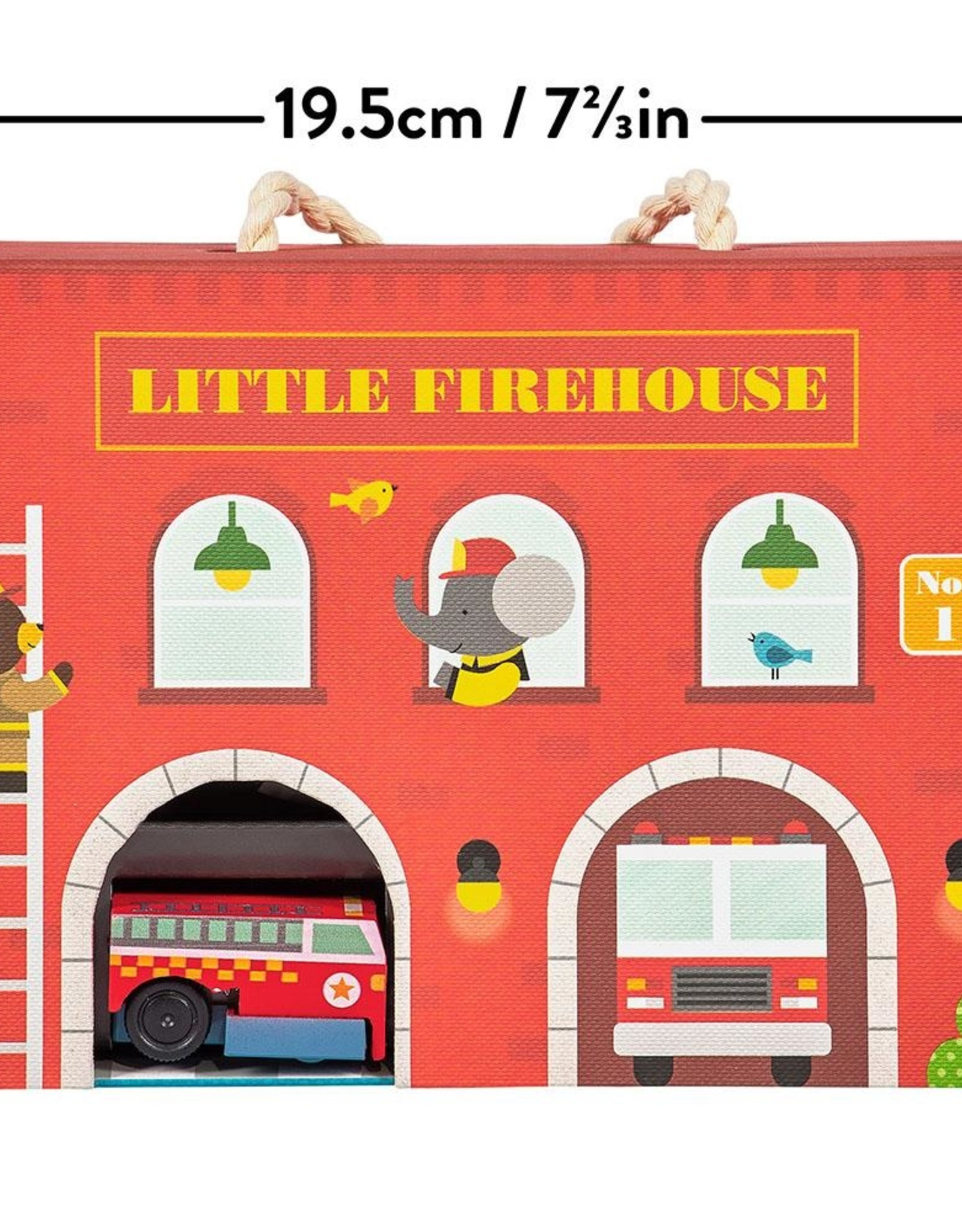 Petit Collage Petit Collage - Little Fire House, Wind Up Play Set