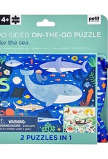 Petit Collage Petit Collage - Two Sided Puzzle Under the Sea 100pce