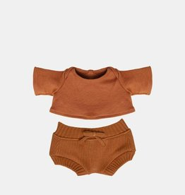 Olli Ella Olli Ella - Dinkum Doll Snuggly Knit Set Toffee