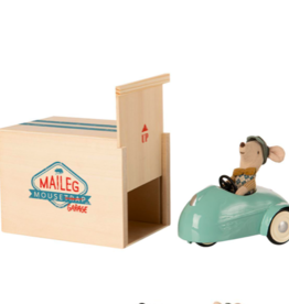 Maileg Maileg - Mouse Car With Garage (Blue)