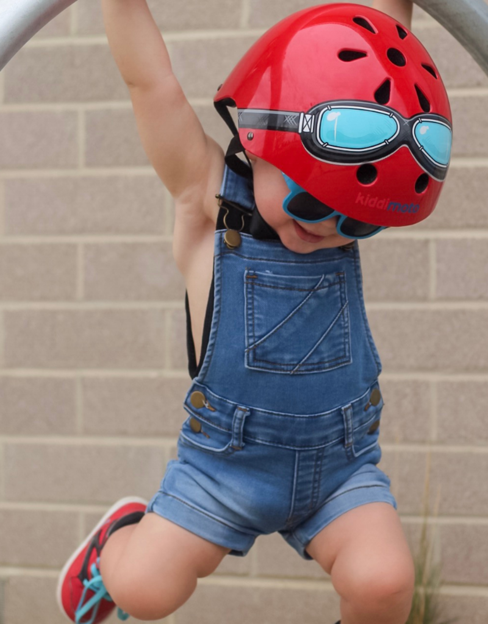 Kiddimoto Helmet Kiddimoto Helmet Red Goggles - Small