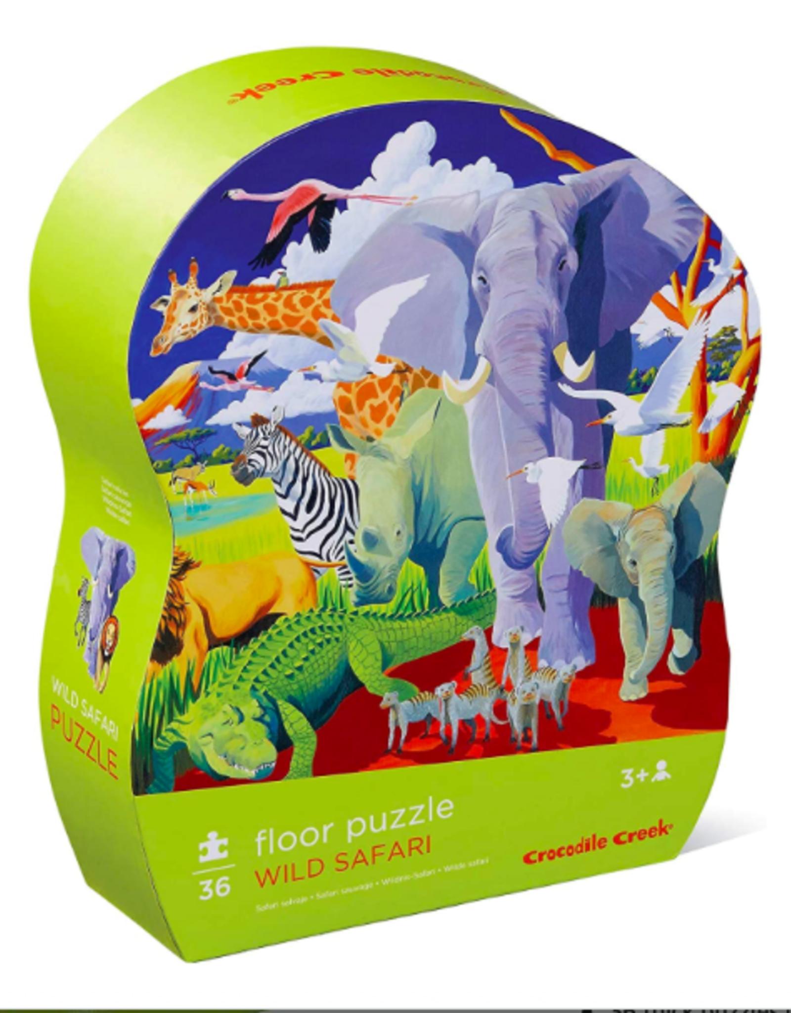 Crocodile Creek Crocodile  Creek - Wild Safari Floor Puzzle 36pce