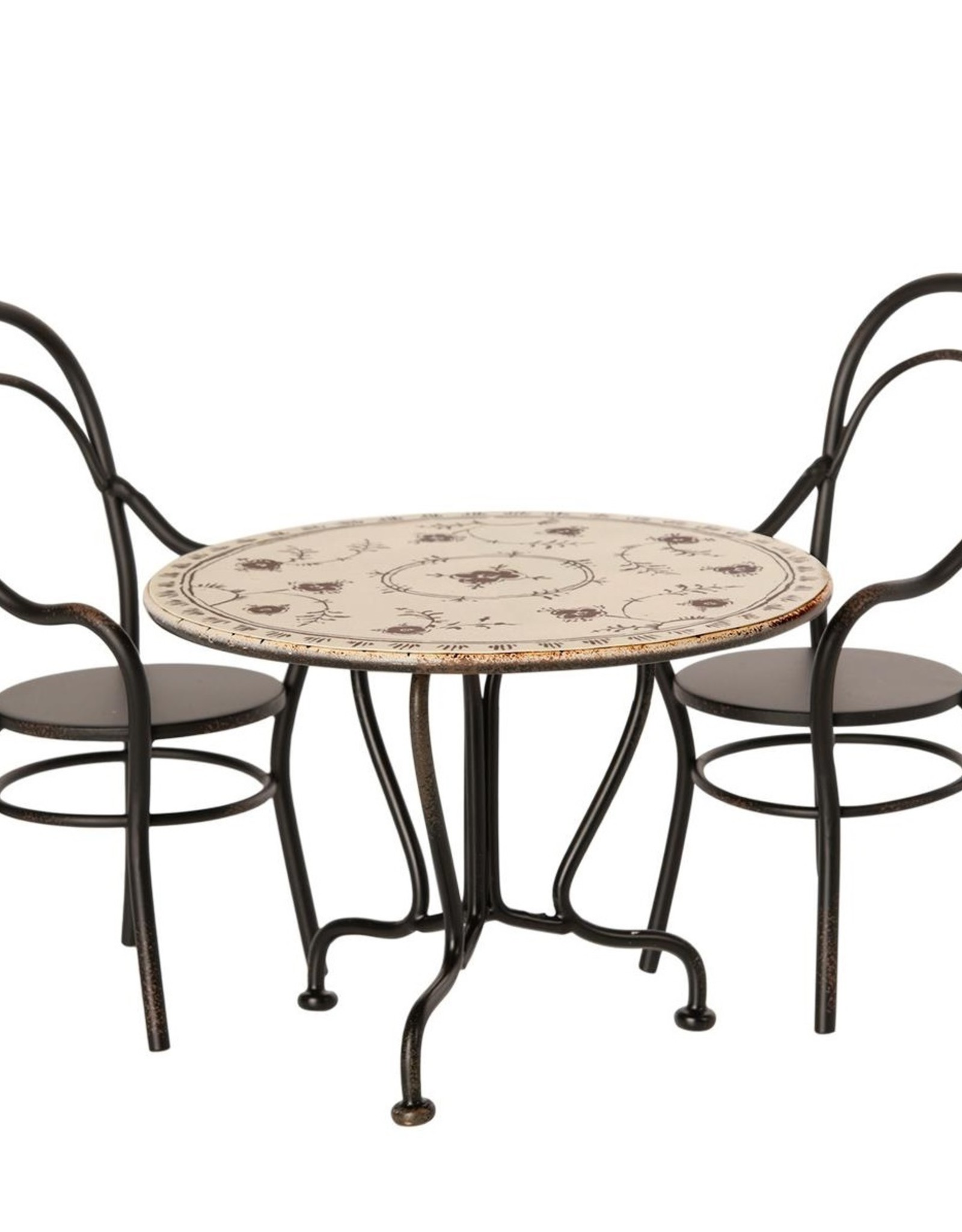 Maileg Maileg - Dining Table Set Anthracite