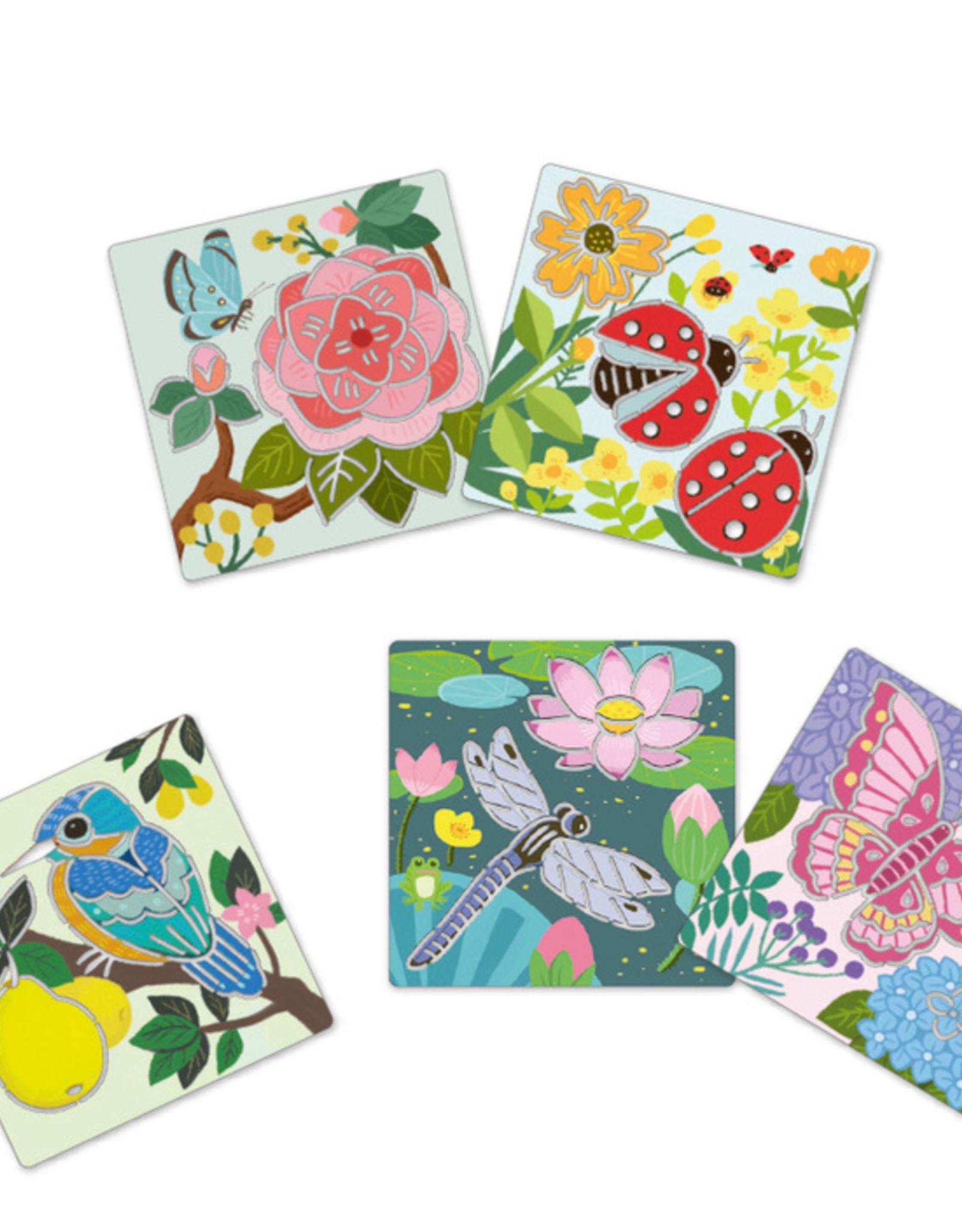 Djeco Djeco - Stencil Butterfly & Garden