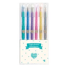 Djeco Djeco - 6 Glitter Gel Pens
