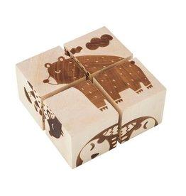 Kubi Dubi Kubi Dubi - Wooden Cube Puzzle Forest Animals