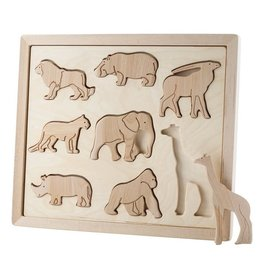 Kubi Dubi Kubi Dubi - Wooden Puzzle  Animals of Africa