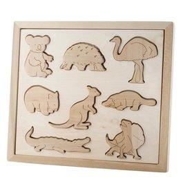 Kubi Dubi Kubi Dubi - Wooden Puzzle Australian Animals