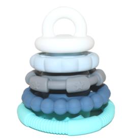 Jellystone Designs Jellystone - Rainbow Stacker & Teether Toy Ocean