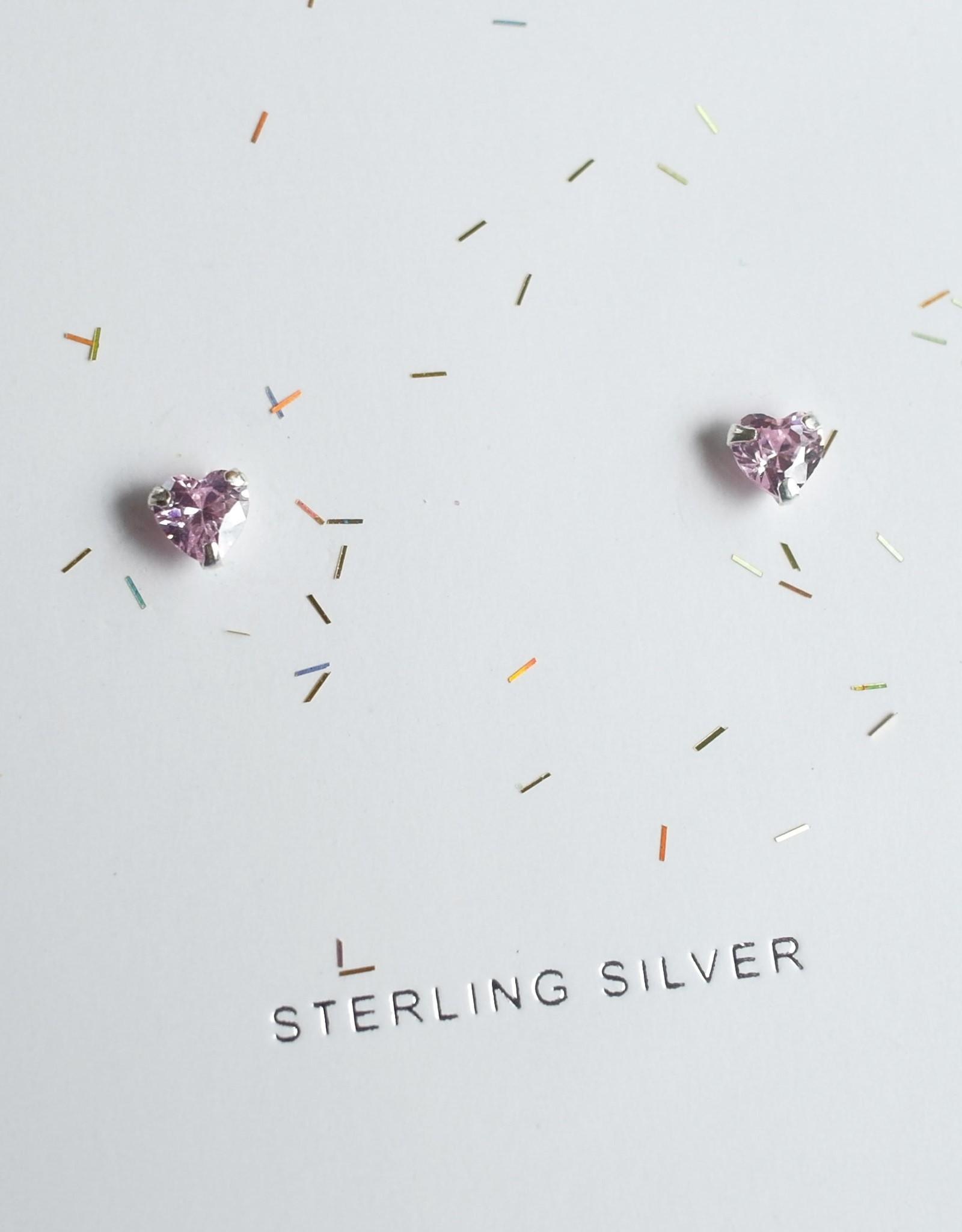 Lauren Hinkley Lauren Hinkley - Pink Crystal Heart Earrings
