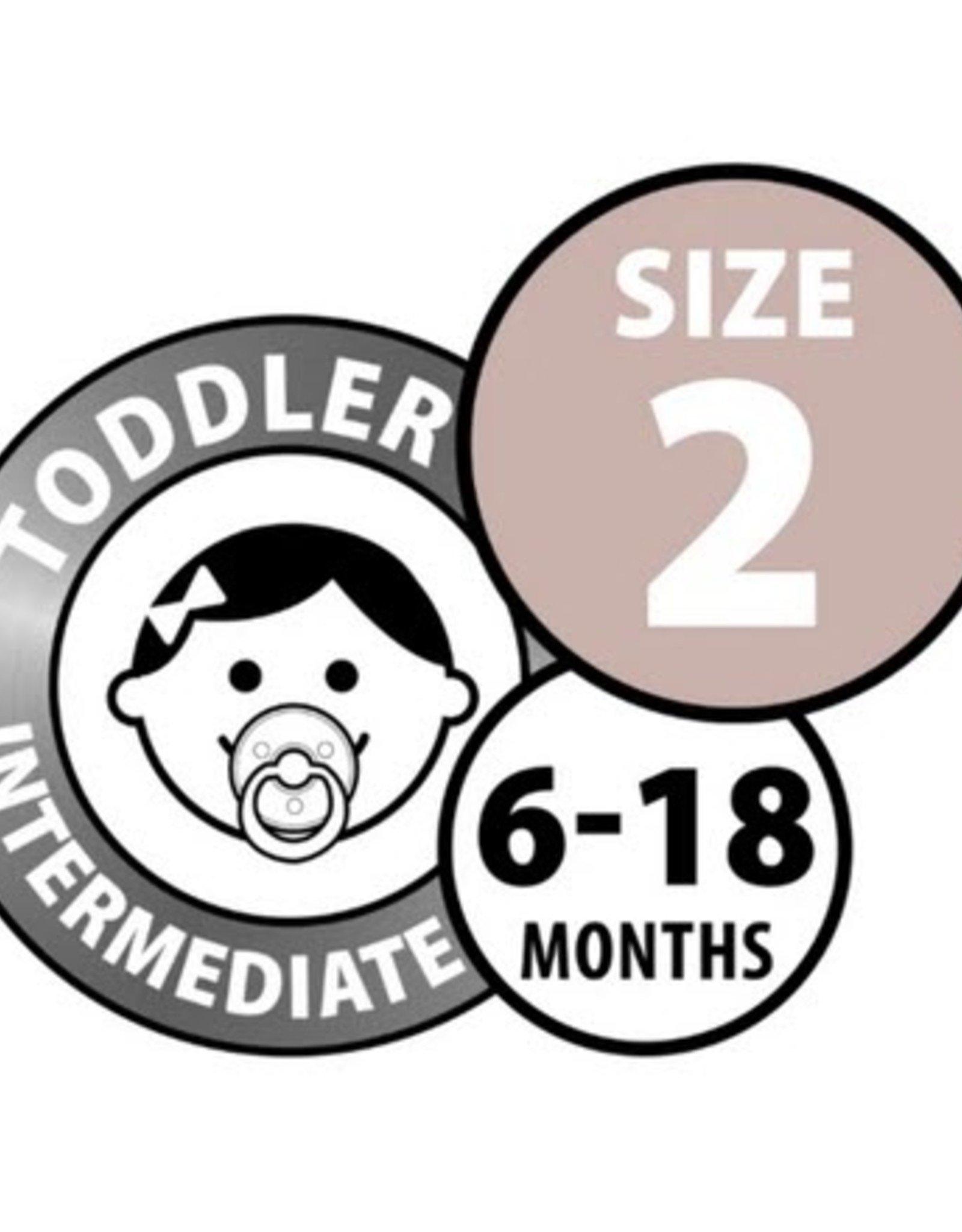 Bibs Bibs Round Pacifier - Cloud Size 2 (2 Pack)