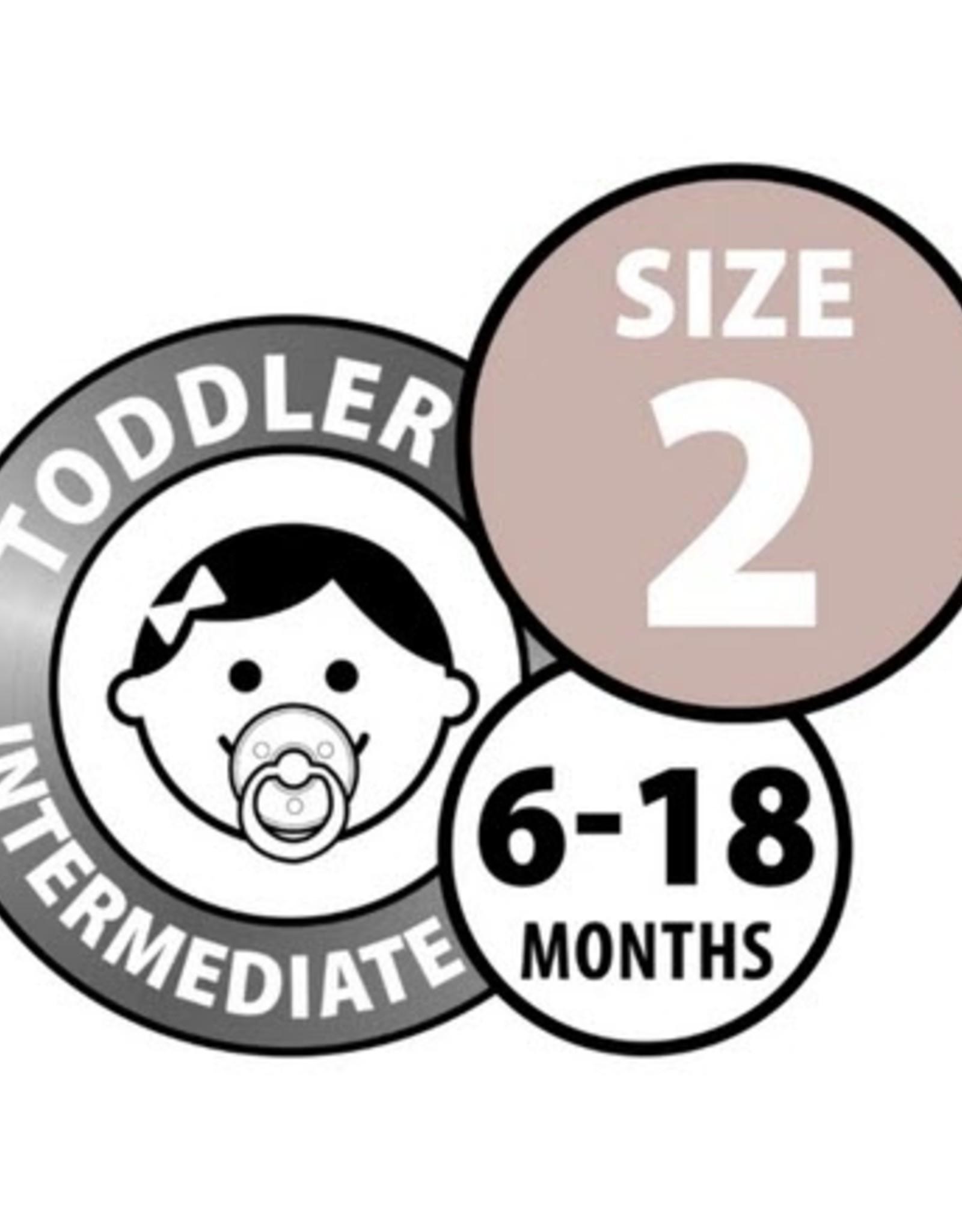 Bibs Bibs Round Pacifier - Sage Size 2 (2 Pack)