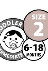 Bibs Bibs Round Pacifier - White Size 2 (2 Pack)