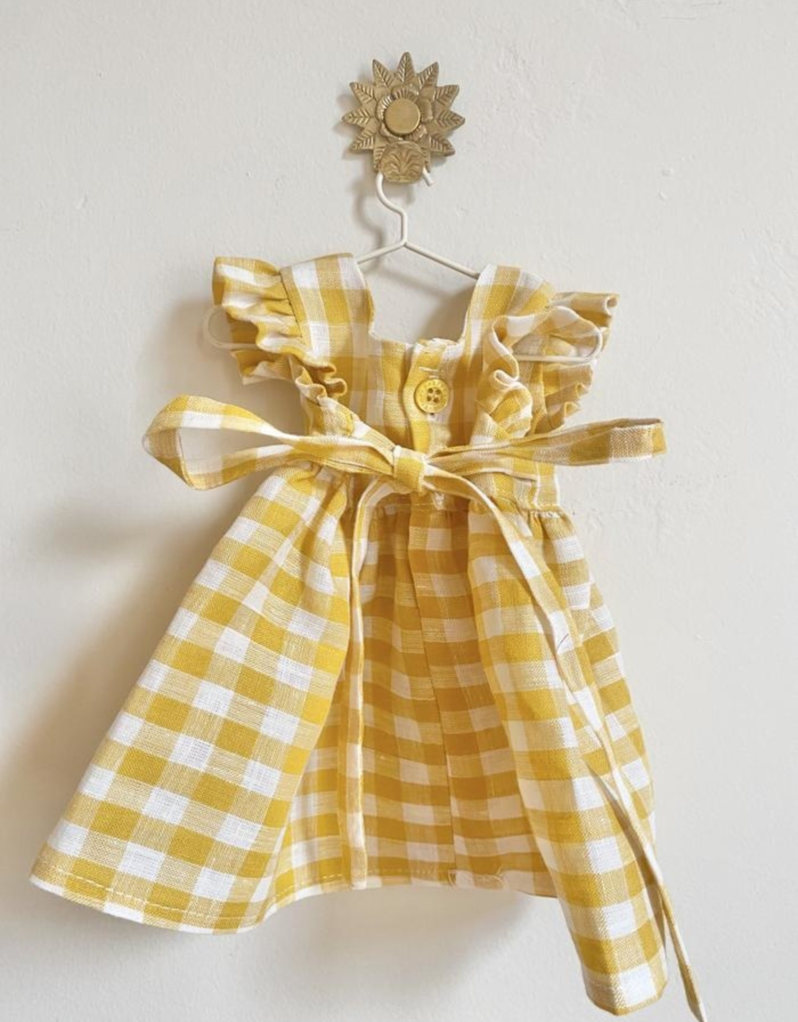 Pretty Wild Pretty Wild - Dolls Dress Yellow Check