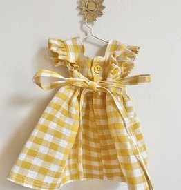 Pretty Wild Pretty Wild - Dolls Dress Yellow Check