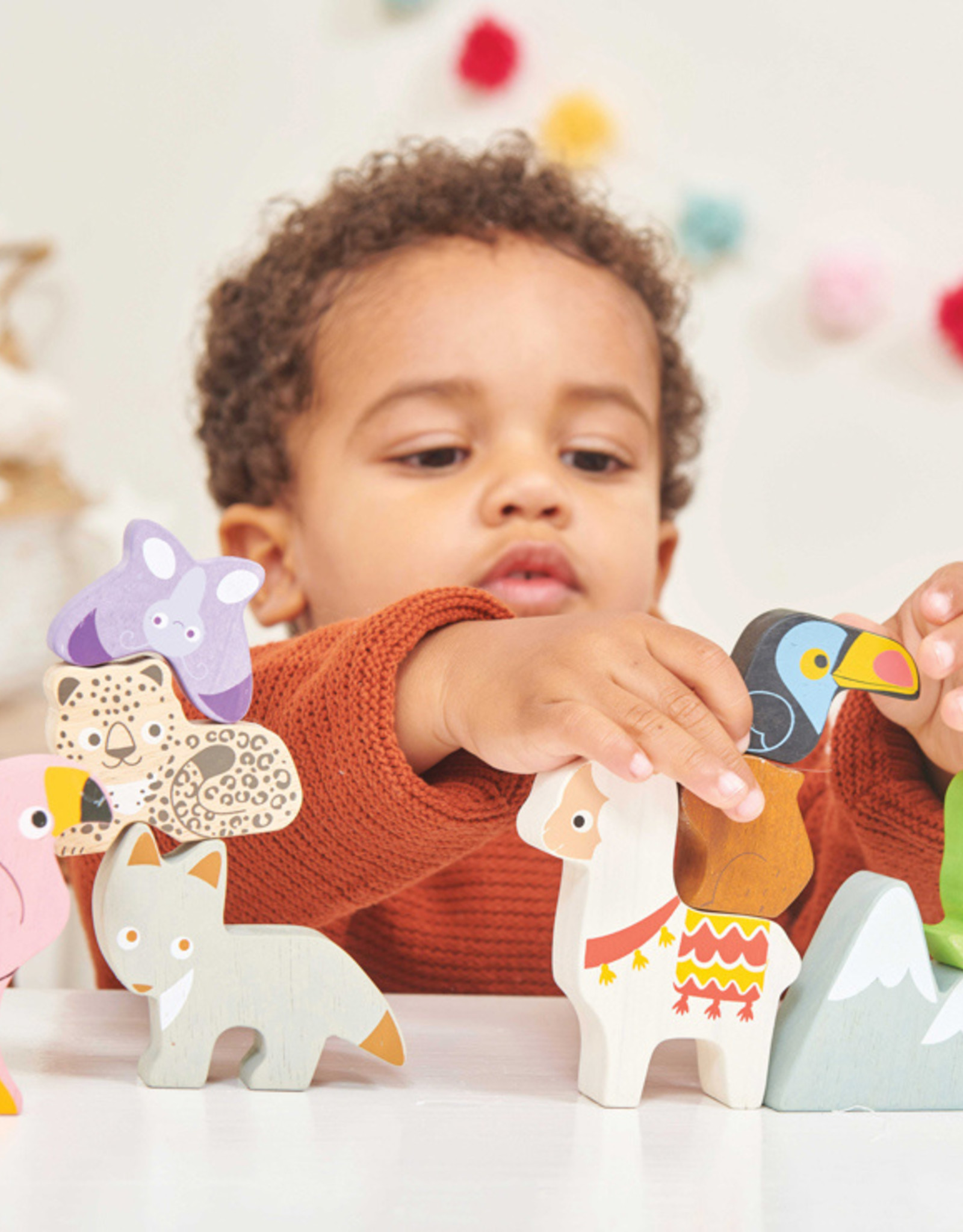 Le Toy Van Petilou - Andes Stacking Animals & Bag
