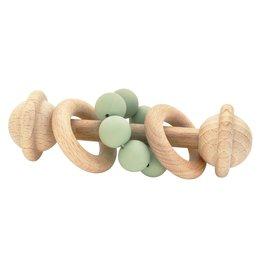 O B Designs O B Designs - Beechwood Silicone Toy Rattle Sage