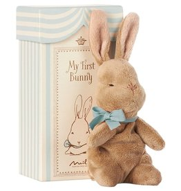 Maileg Maileg - My First Bunny in Box Blue