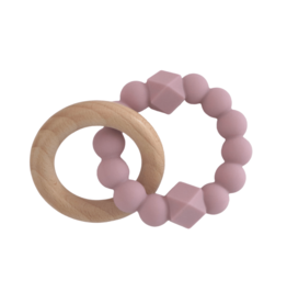 Jellystone Designs Jellystone - Moon Teether Mauve