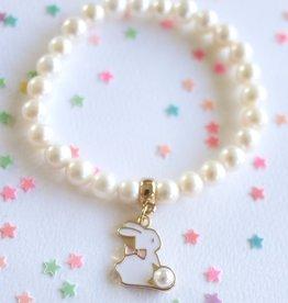 Lauren Hinkley Lauren Hinkley - Freshwater Pearl Bunny Charm Bracelet