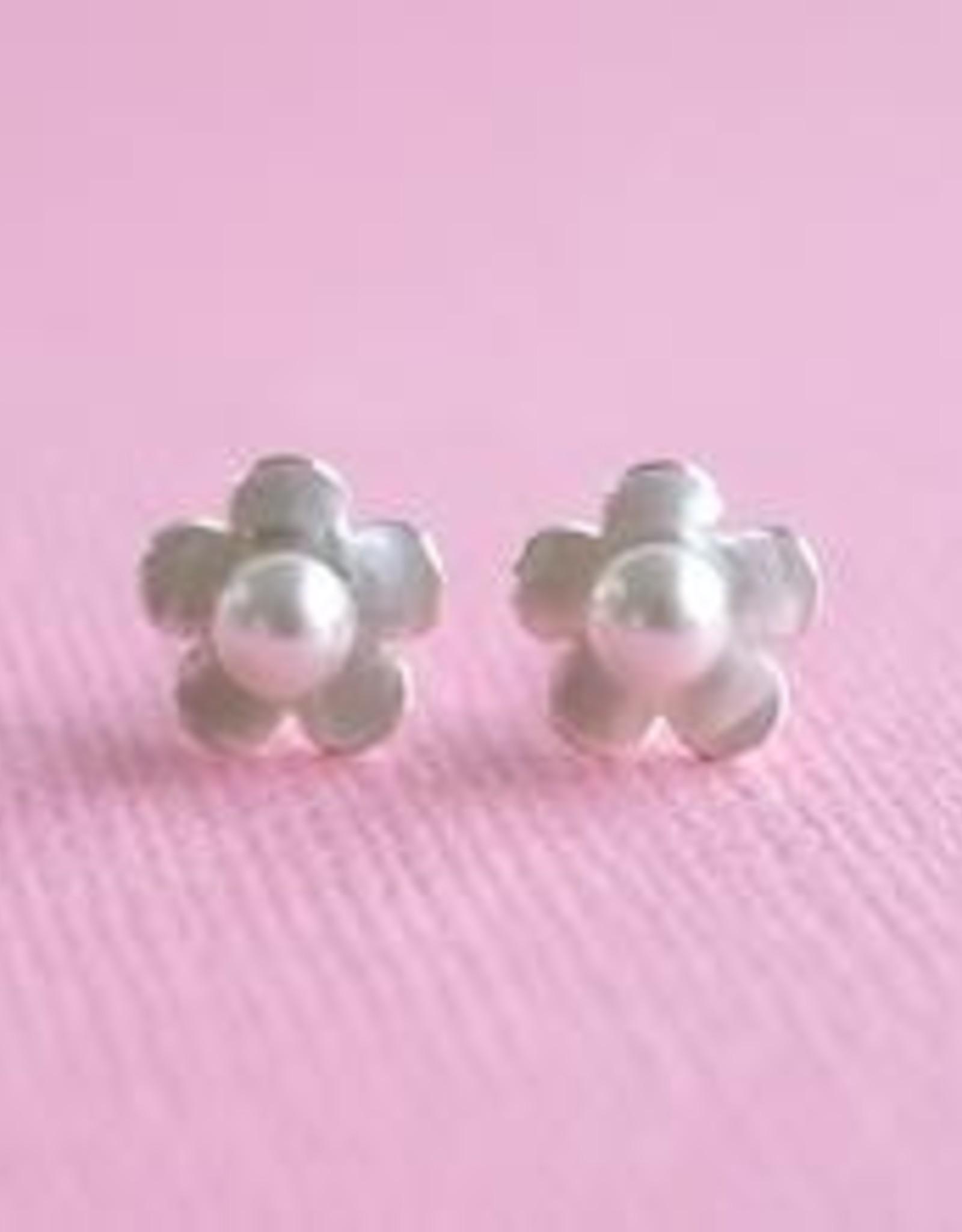Lauren Hinkley Lauren Hinkley - Pearl & Silver Flower Earrings