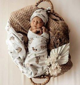 Snuggle Hunny Snuggle Hunny - Fox Jersey Baby Wrap & Beanie Set