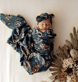 Snuggle Hunny Snuggle Hunny - Belle Baby Jersey Wrap & Topknot Set