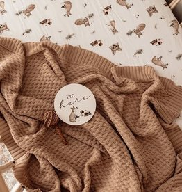 Snuggle Hunny Snuggle Hunny - Hazlenut Diamond Knit Baby Blanket
