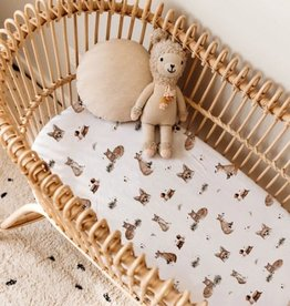 Snuggle Hunny Snuggle Hunny - Fox Fitted Bassinet Sheet Change Pad Cover